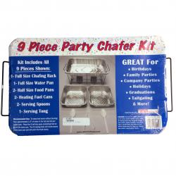 Chafing Dish Kit- 9 Piece Set Includ