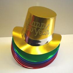 Foil Top Hat W/ Happy New Year