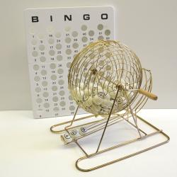 Bingo Cage-Table Tennis- Metal Base with 38 mm balls 1-75