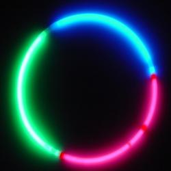 Glo Necklace- Tri-Color Grn/Red/Blue