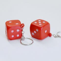Soft Dice Keychain-Red- 1 Dozen Header