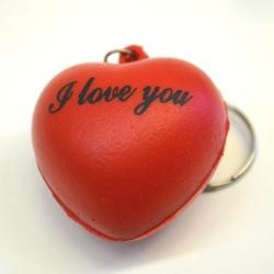 Soft Heart Keychain W/ I Love You