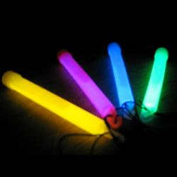 Glo Stick- 6 Inch-Asst Colors- 1 Dozen Display Box