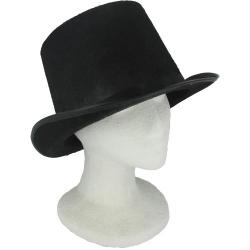 Top Hat- Black Hard Felt-5 inch Tall