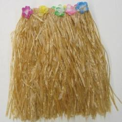 Adult Hula Skirt-Tan Plastic-Elastic