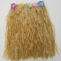 Adult Hula Skirt-Tan Plastic-Elastic