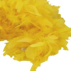Feather Boa- Yellow- 6 Foot