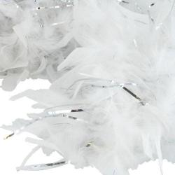 Feather Boa- White w/Tinsel- 6 Foot