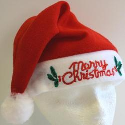 Flashing Santa Hat- Merry Christmas