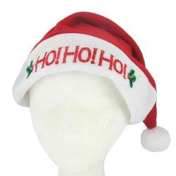 Flashing Santa Hat- Ho Ho Ho