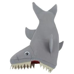 Vertical Shark Hat W/Teeth- 16 Inch
