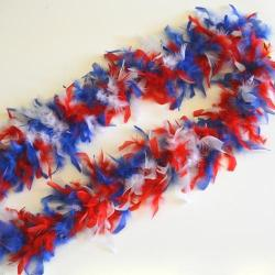Feather Boa- Red/White/Blue- 6 Foot