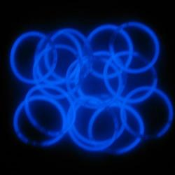 Glo Bracelet- Blue- 15 Pack- 8 Inch