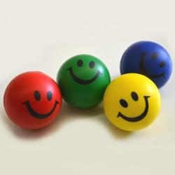 Smile Stress Ball- 63mm- 2 Dozen Display- Assorted Colors