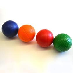 Sports Stress Ball- 63mm- 2 Dozen Display- Assorted Colors