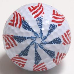 Flag on Staff   Golf Ball