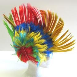 Rainbow Mohawk Wig- Each In A Poly