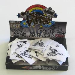 Tattoos -Black 24 Ast 72 Pcs Display Box