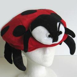 Red Ladybug Hat- Adult Size