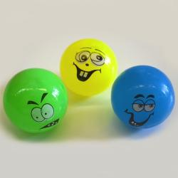 Flashing Funny Face Ball- 1 Dozen Display Box   3 assorted styles