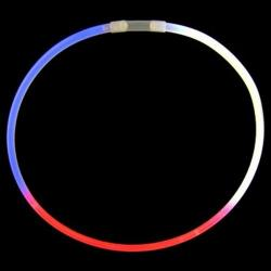Glo Necklace- Tri-Color Red/Wht/Blue