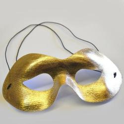 16579 - Half Mask- Gold- Shiny Material