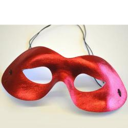 Half Mask- Red- Shiny Material