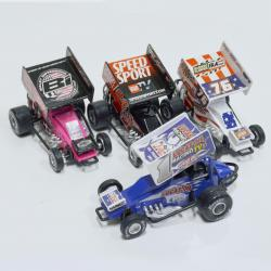 Die Cast Sprint Car- 5 Inches Long- White (128 Per Carton Going Forward)