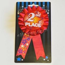 Ribbon W/Rosette- 2nd Place- Carded