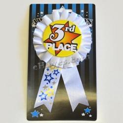 Ribbon W/Rosette- 3rd Place- Carded