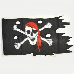 Pirate Flag- Battle Worn- 33X49 Inch