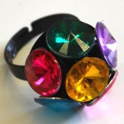 Disco Ball Ring- Metal- 2 Dozen Display