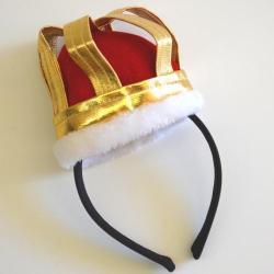 Mini Queen Crown W/Headband- Red