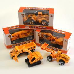 Die Cast Construction Vehicles- Assorted Designs- 4 Dozen Display Box