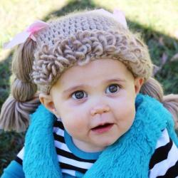 The Lilly Hat- Woven Yarn Hair Hat- Brown- Small Kids Size