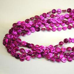 Pink Breast Cancer Awareness Bead- 33 Inch- 6 Per Card