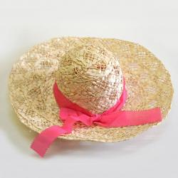 Straw Ladies Spring Hat w/Ribbon