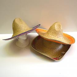 Straw Sombrero- 3 Assorted Colors