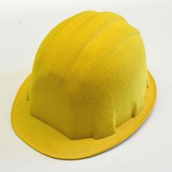 Construction Worker Hat- Yellow Hard Felt Material