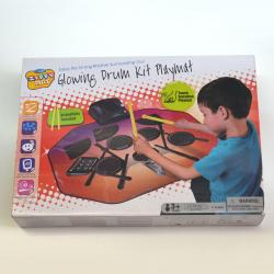 Glowing Electronic Drum Kit Playmat W/Drumsticks
