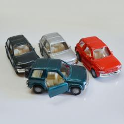 Pull Back Die Cast SUV Truck- 4 Inch- 143 Scale- Asst Colors