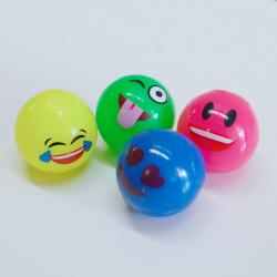 Flashing Emoji Ball- 55mm-  4 Asst Designs and Colors