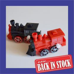 Wind Up Train- 2 Assorted Colors- Black and Red- 1 Dozen Display Box