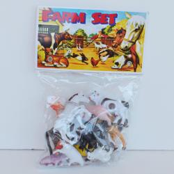 "Farm Animal Assortment- 15 Piece Pack- 3"" Average Size- Poly Bagged with Header"