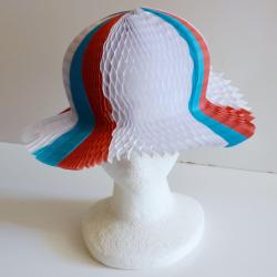 Unfolding Paper Hat- Red/White/Blue