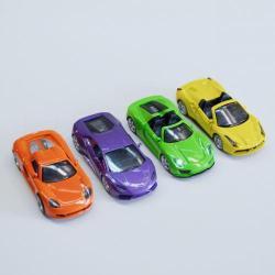 Die Cast Convertible Sports Car- 4.5 Inch- Bright Colors- 1 Dozen Display Box