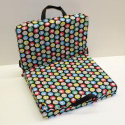 Bingo Seat Cushion with Cushion Back - Bingo Ball Design