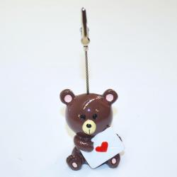 Bingo Ticket Holder-  Bear with Heart