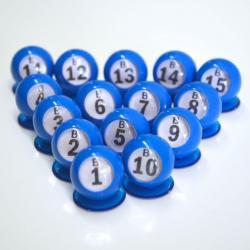 Bingo Ball Waiters - B row 1-15 per package