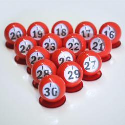Bingo Ball Waiters - I row 16-30 per package